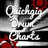 Logo for website quick gig charts. This site sells drum sheet music